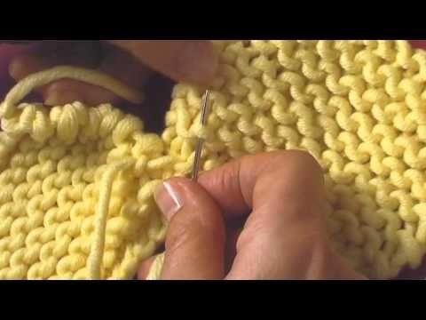 Comment assembler votre tricot - tuto tricot - YouTube