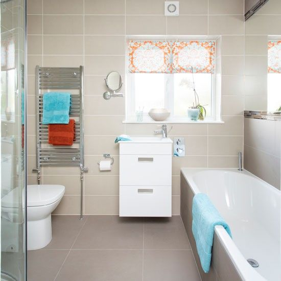 1000 images about bathrooms on pinterest bathrooms for Blue and orange bathroom