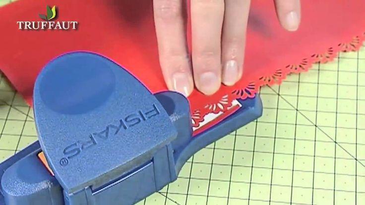 Perforeuse: Découvrez une perforatrice d'angle pour la décoration de vos papiers! Réalisez grâce à cette perforatrice des effets dentelle sur votre lettre.
