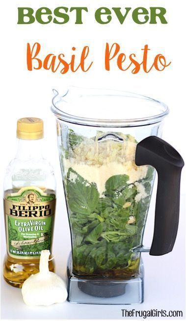 Best Ever Basil Pesto Recipe! ~ from TheFrugalGirls.com ~ just a few ingredients and you've got yourself a DELICIOUS healthy Pesto - perfect for Pasta, Bread, Sandwiches, etc! Crazy EASY recipe that can be made in your blender or food processor! #recipes #thefrugalgirls