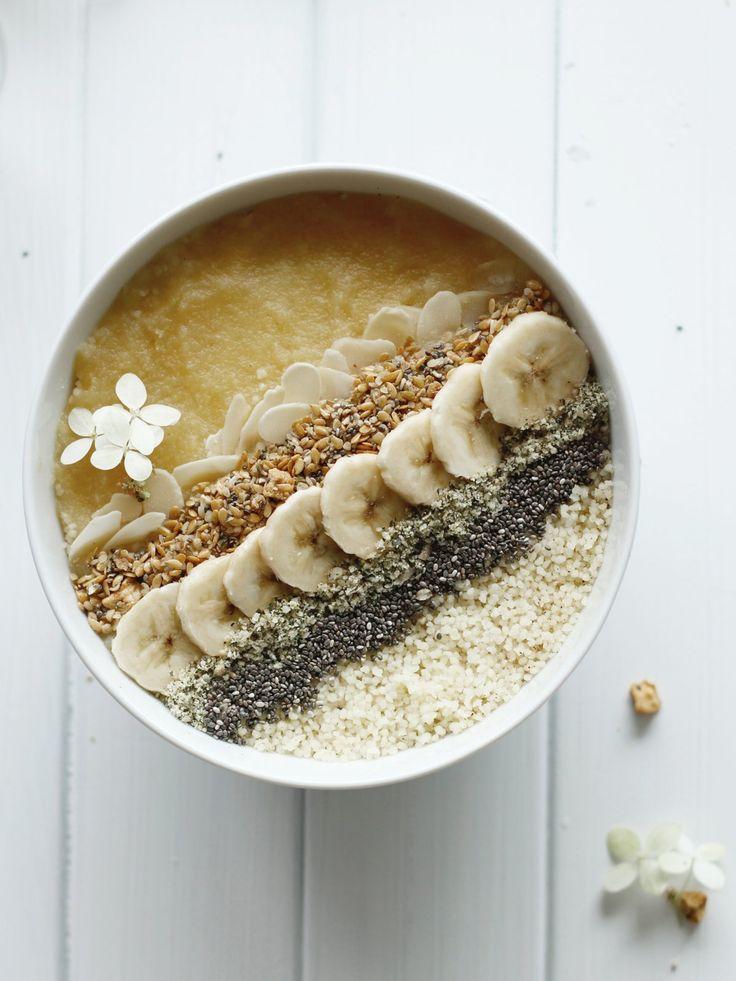 Veganes Frühstück: Süßer Couscous mit Chia und Kernen