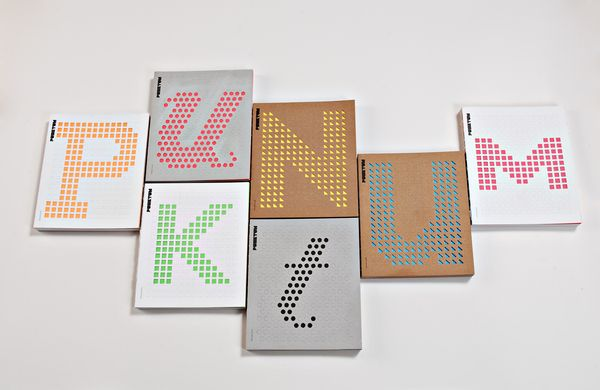 type made from punching out holes in perforated books.
