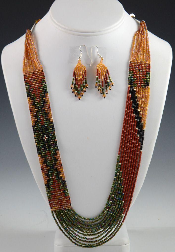 Navajo Beaded Necklace, Rena Charles, Navajo Necklace, Sedona Indian Jewelry, Sedona Native American Jewelry, Native American Art, Oak Creek Canyon
