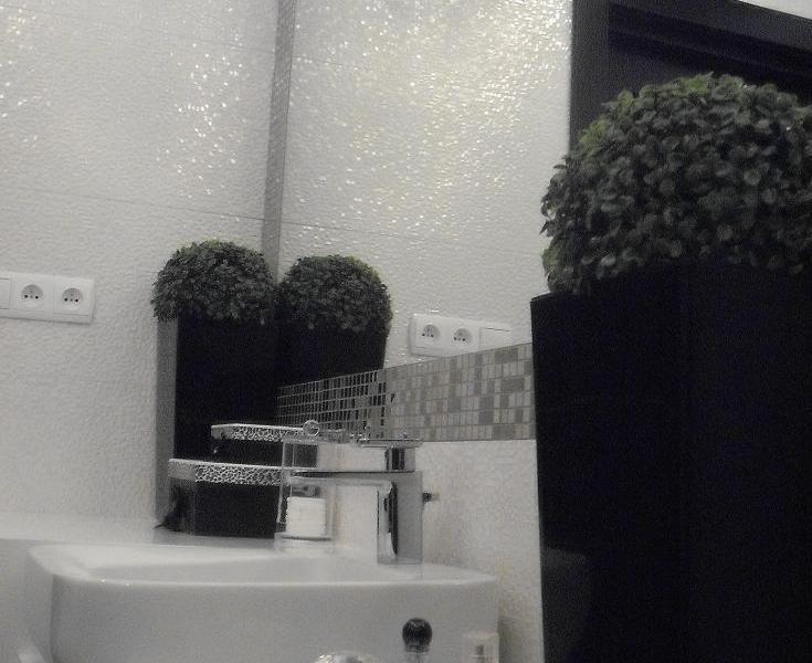 biało-czarna łazienka 2