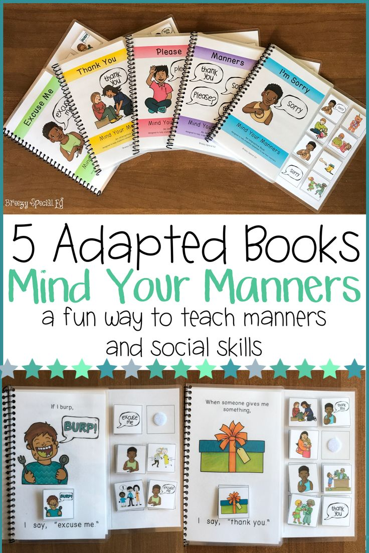These interactive books about manners are great for teaching and practicing polite manners including please, thank you, excuse me, and sorry. Each book reviews when to say each word/phrase, how to sign (ASL) the word/phrase, and why we use our manners.