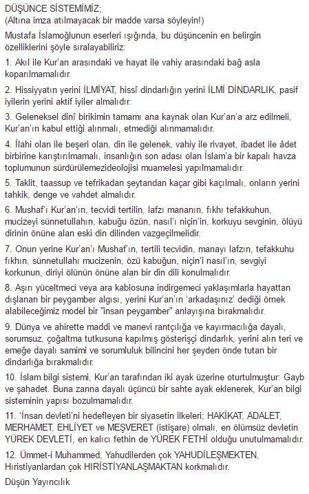 """M. Sami İslamoğlu Twitter'da: """"DÜŞÜNCE SİSTEMİMİZ Mustafa İslamoğlu eserleri ışığında, bu düşüncenin belirgin özelliklerini şöyle sıralayabiliriz https://t.co/YrHGTCTfkw"""""""