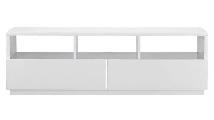 this is a great simple modern white console. chill white media console