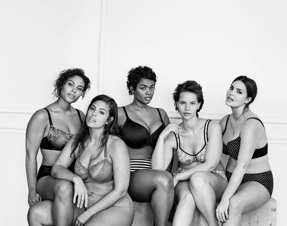 La lencería Lane Bryant desarrolló diseños para mujeres de tallas grandes, y cuerpos voluptuosos; muy alejados a la estética de Victoria´s Secret.