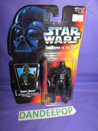Star Wars Darth Vader The Power Of The Force Kenner Hasbro toy with lightsaber #starwars #darthvader #kenner #hasbro #toy #scifi #dandeepop