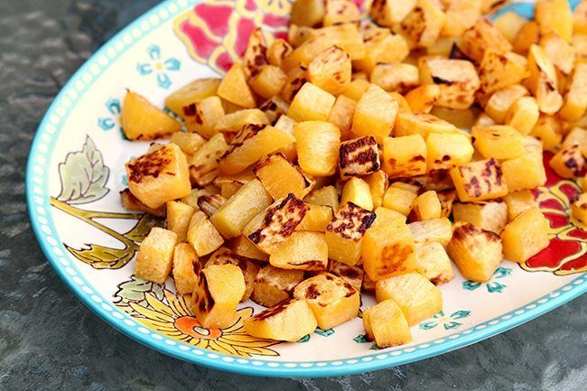 Sea Salt & Olive Oil Roasted Turnips. Stop boiling and steaming your turnips, try this simple and delicious way of making them instead!