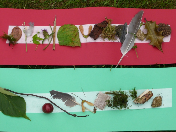 Natural collage strips