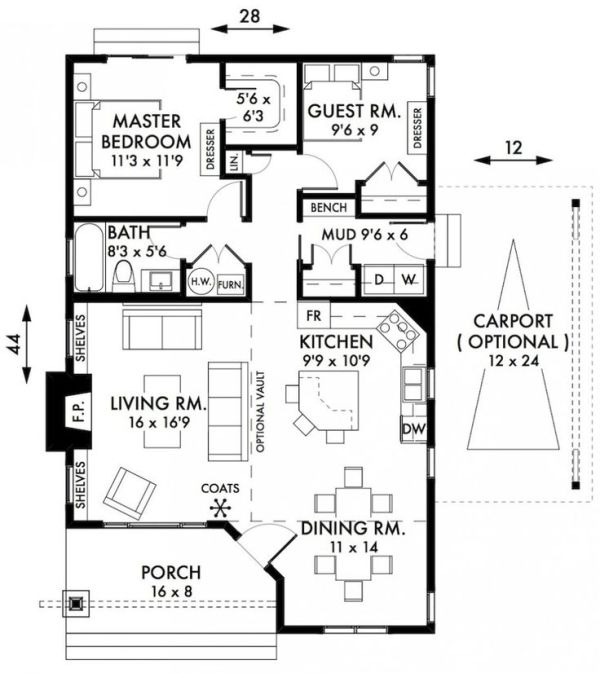 Stylish Two Bedroom House Plans To Realize Awesome Two Bedroom House Plans Cabin Cottage House Plans Two Bedroom House Cottage Floor Plans Country House Plans