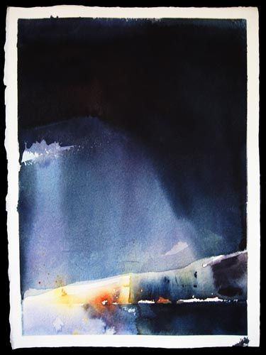 Hål i himlen / The Hole in the Sky, watercolor 2007Rebecca Elfast