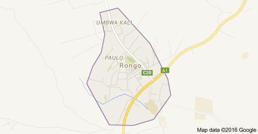 Kaart van Rongo, Kenia