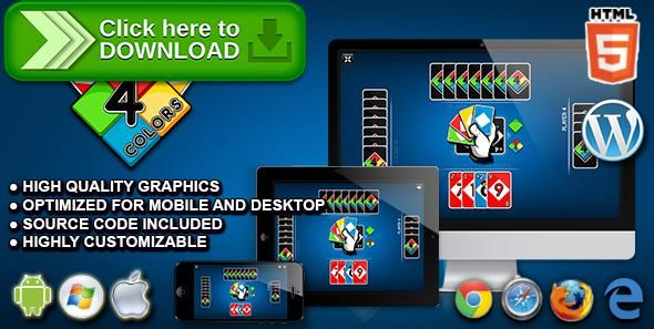 [ThemeForest]Free nulled download Four Colors - HTML5 Card Game from http://zippyfile.download/f.php?id=44143 Tags: ecommerce, board game, card game, educational game, freecell, html5 card game, html5 Uno, multiplayer game, skill game, solitaire, solitaire game, strategy game, table game, uno, uno game, wordpress game