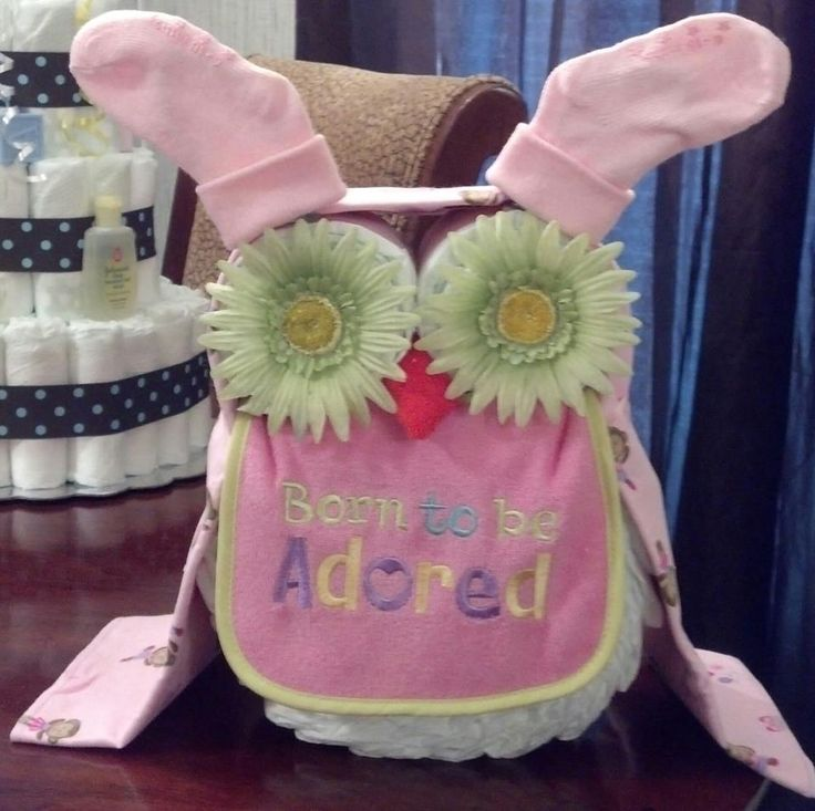 Baby Girl Diaper Owl. My best friends mom made one of these for my baby shower! So cute!