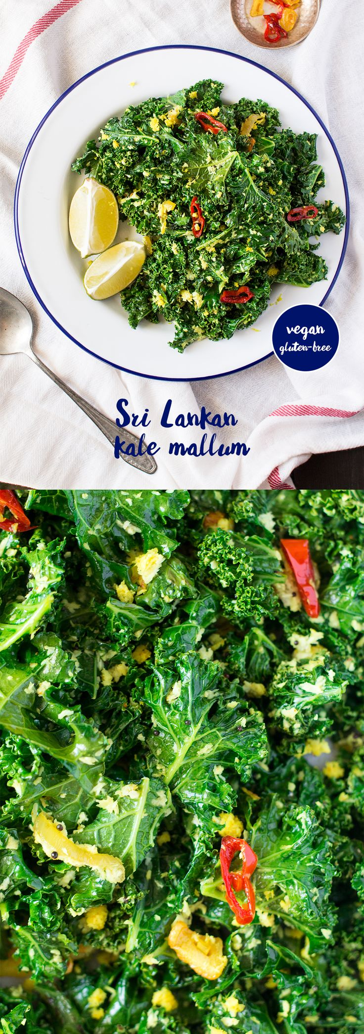 The most #delicious way to #cook #kale that hails from beautiful #srilanka. It's #east, #quick and naturally #vegan and #glutenfree. #recipe #recipes #vegetarian #starter #appetizer #greens #coconut #chilli #chile