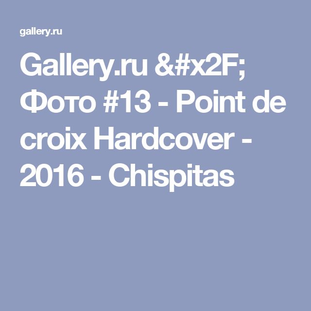 Gallery.ru / Фото #13 - Point de croix Hardcover - 2016 - Chispitas