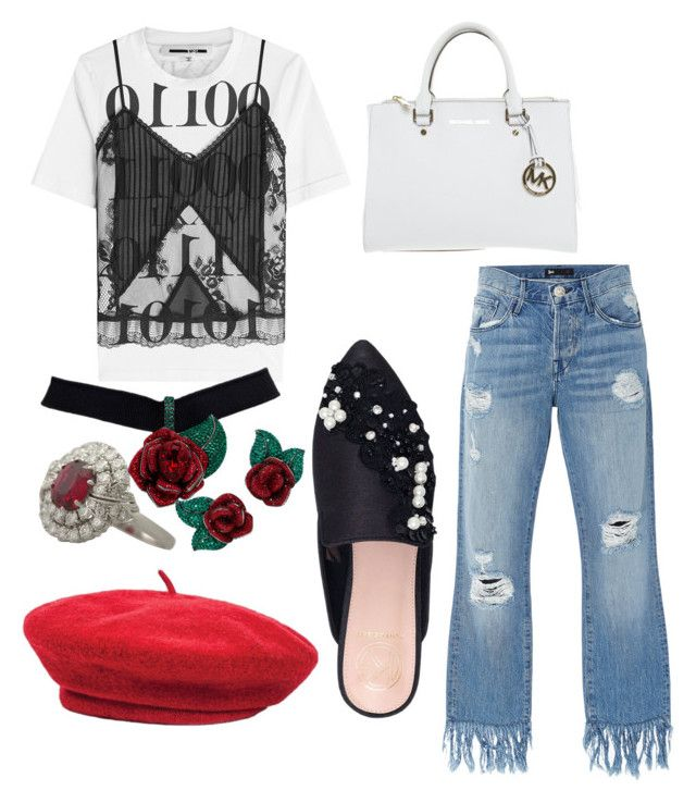 Black white and red by claudianne on Polyvore featuring polyvore fashion style McQ by Alexander McQueen 3x1 KG Kurt Geiger Michael Kors Atelier Swarovski Brixton clothing