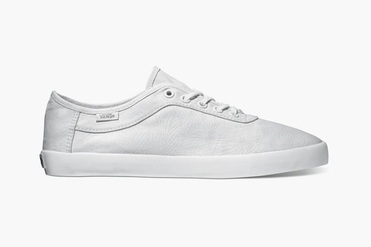 White leather vans. #leather #white #vans