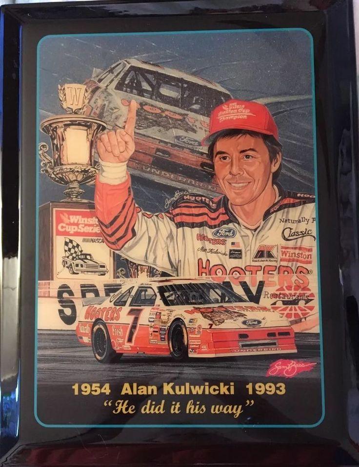 "Vtg Alan Kulwicki 1954-1993 Sam Bass Memorial Plaque ""He Did It His Way"" #Unbranded"