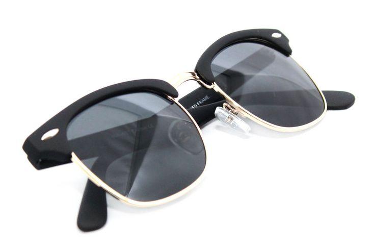 Soho Club Master Men's Women's Sunglasses Way Horn Rim Soft Tuch Matte Black A8 #Unbranded #Square