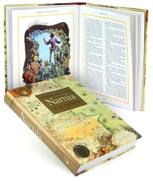 Complete Chronicles of Narnia illusrtated pages
