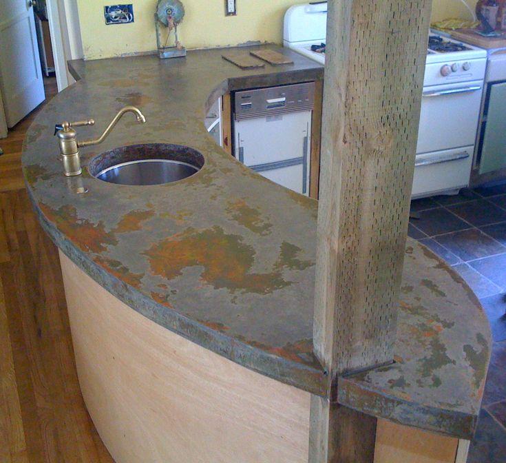 Poured Concrete Countertop