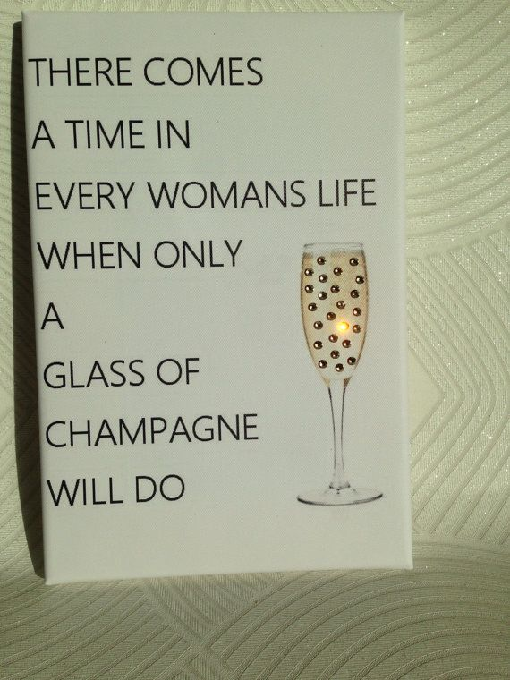 Swarovski quote canvas champagne quote canvas. by GiftsWithGlitz
