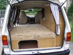 minivan camping conversion - Google Search