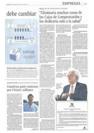 Conalvias ganó contratos por 201 millones de dólares. Diario La República. Andres Jaramillo Lopez Presidente de Conalvias.