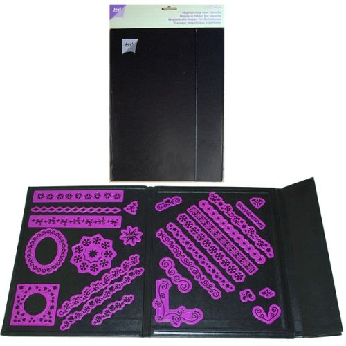 JOY CRAFTS - 6200-0060 - MAGNETMAPPE A4 - BLACK - Oppbevaring av dies Joy! Crafts A4 Magnetic Storage Folder for Stencils