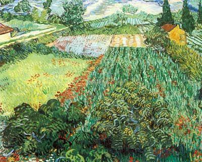 vincent van gogh fields with poppies thick impasto paint fine art reproduction oil - Van Gogh Lebenslauf