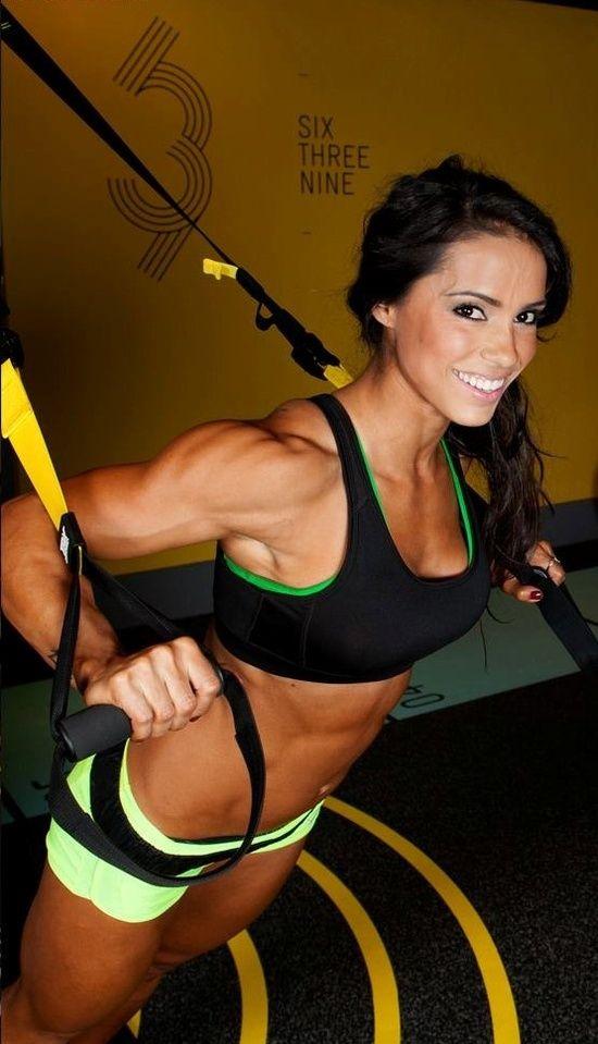 fit women #fitness #hardbodies.....love her shoulders!!!