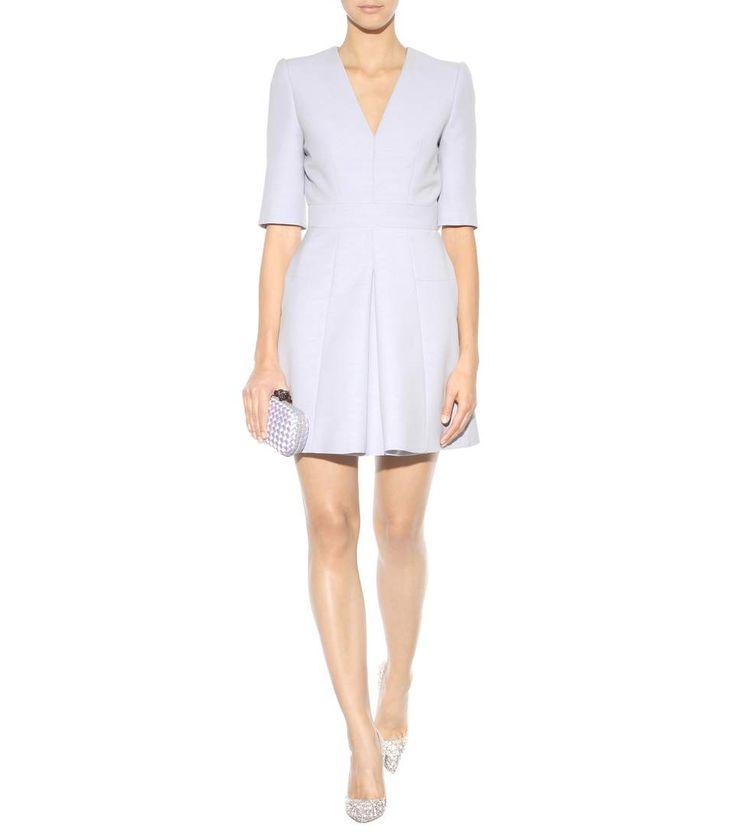 Hellblaues Kleid aus Wollgemisch