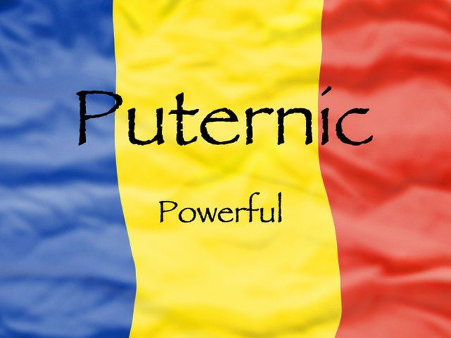 I got: Puternic! - Powerful (Romanian)! Which Word In A Romance Language Best Describes You?