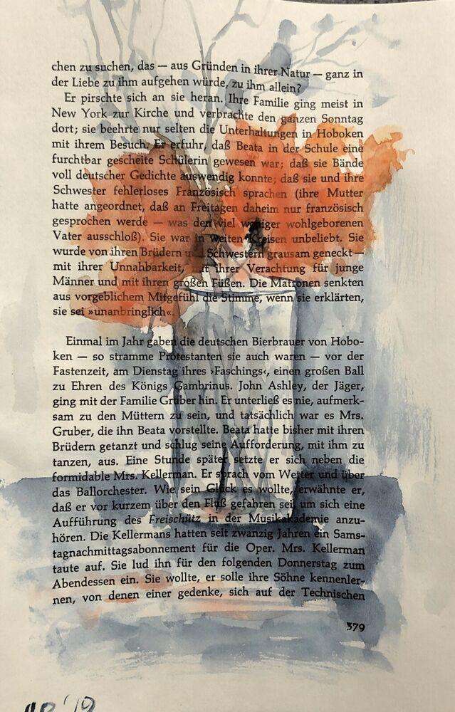 Details Zu Aquarell Malerei Auf Alte Buchseiten Kunst Creativ Art