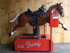 Mechanical Coin-Operated Sandy Horse | That's my name ...