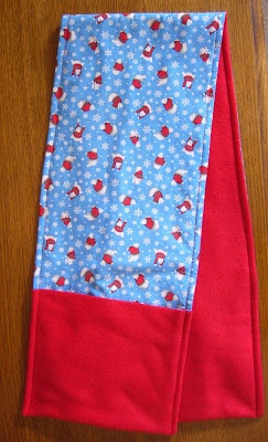 Simply Shoe Boxes: Childs Fleece & Cotton Fabric Scarf w/Pocket Tutorial