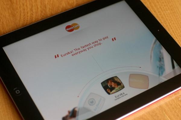 Radial navigation - Mastercard iPad app by Paul Clifton, via Behance