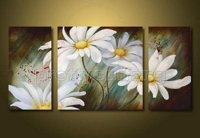 White Elegant Origianl Decorative Hand Painted Art Oil Painting Without Frame | eBay