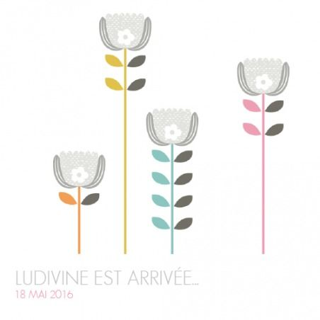 Faire part naissance Printemps scandinave - by Mr & Mrs Clynk pour fairepartnaissance.fr #fairepartnaissance #mrmrsclynk