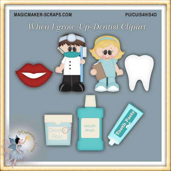When I Grow Up - Dentist Clipart
