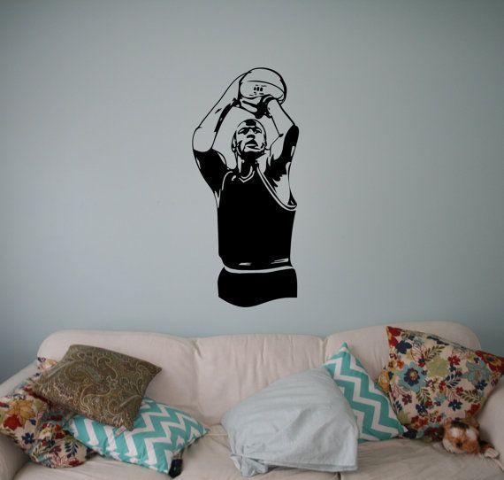 Parete in vinile Decal Basket Player parete vinile adesivo Sport Casa da parete in vinile interno camera da letto Decor Art murales 22(btb)