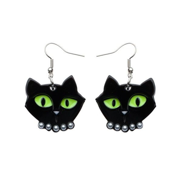 Erstwilder Meow at Midnight Earrings available from BarKATtheMeow.com