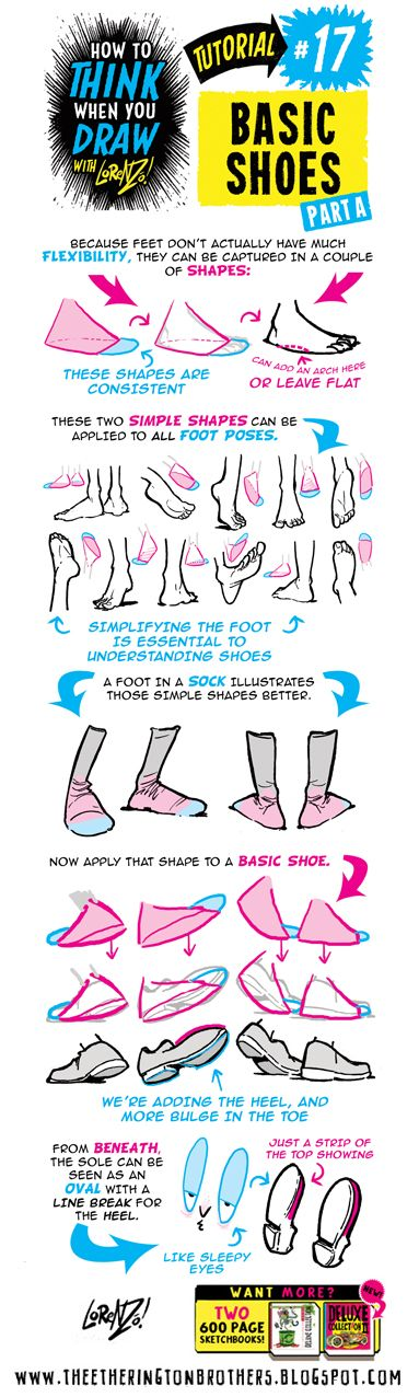 The Etherington Brothers: How to THINK when you draw FEET and SHOES