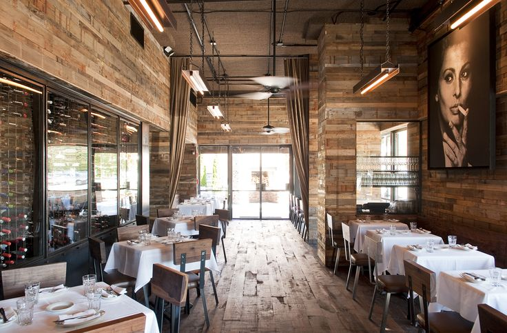 small restaurant design photos | Home Designs: Wooden Vintage Restaurant Design Laminate Floor Small ...