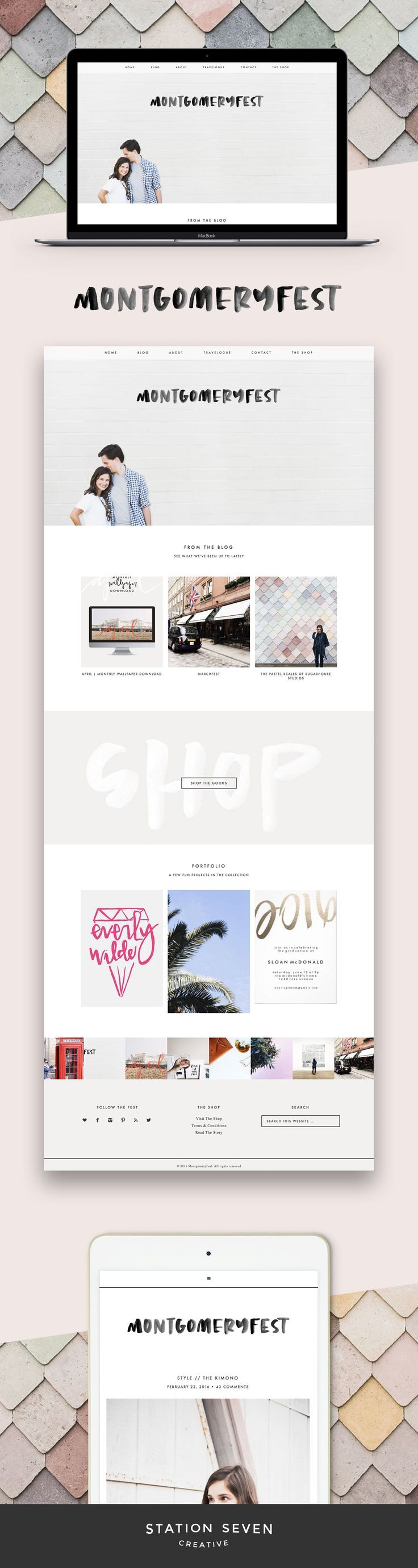 Sweet and simple blog by Montgomery Fest running on Station Seven's Coastal WordPress theme.