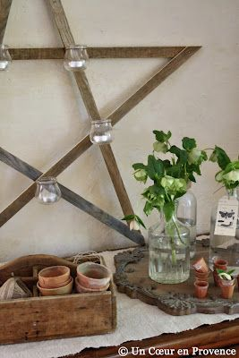 .: Heart, Rustic Candles, Search, Guest House, Candles Holders, Stars Candles, En Provence, Decor Blog, Wooden Stars