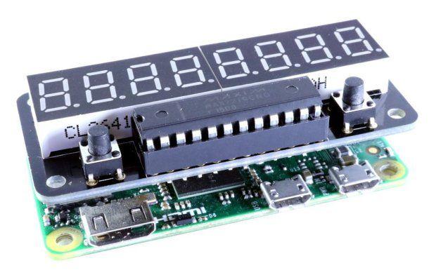 The ZeroSeg adds a digital display board to your Raspberry Pi